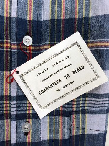 1960s Bleeding Madras Shirts- these shirts bleed color when washed. Its an awesome shirt!! You have to hand wash or alone by itself in the washer. Then iron