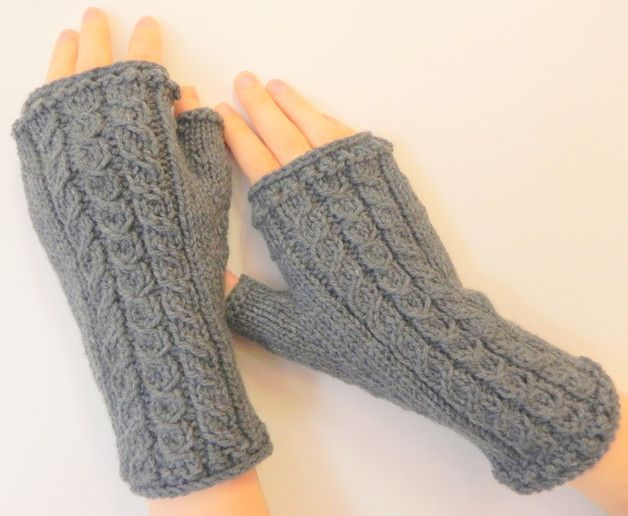 Mitenki rękawiczki bez palców - YellowMleczyk - Mitenki