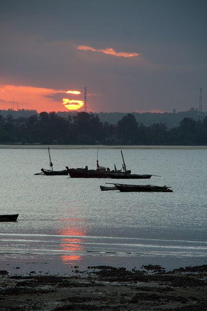Dar es Salaam, zonsondergang, Tanzania