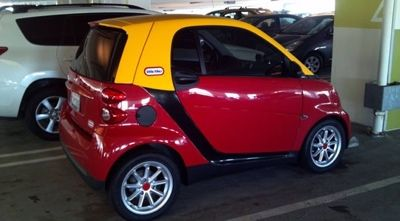 The best way to paint a smart car! A-mazing!