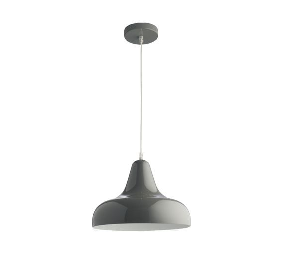 Buy Habitat Aerial Grey High Gloss Pendant Light at Argos.co.uk - Your Online Shop for Ceiling and wall lights, Lighting, Home and garden.