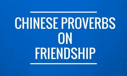 Some Chinese Proverbs on Friendship