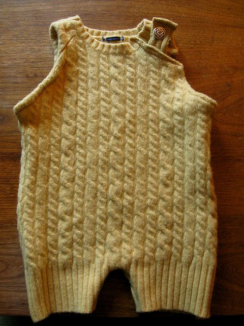 wool soaker overalls by reese mcg, via Flickr  upcycled sweater