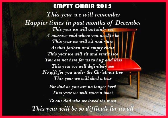 the empty chair poem - Google Search