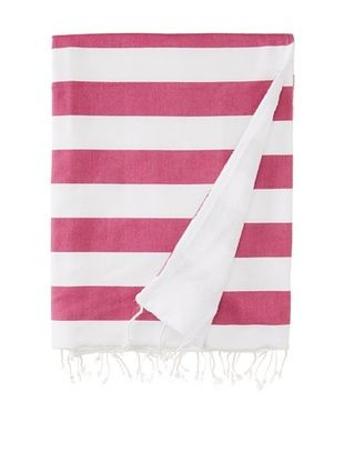 41% OFF Nine Space Ayrika Beach Collection Wide Stripe Terry Fouta Towel (Fuchsia)