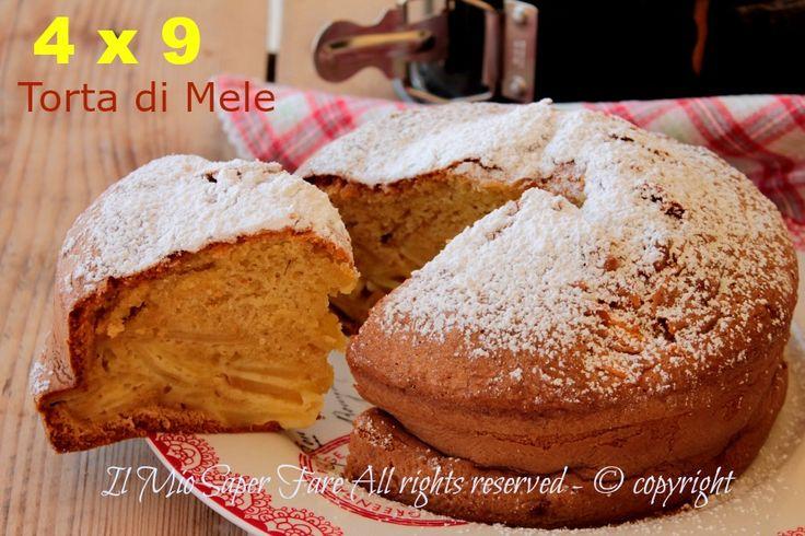 Torta senza bilancia alle mele 4 x 9 sofficissima.Torta di mele senza burro conosciuta anche come torta del 9. Senza pesare gli ingredienti è più facile!