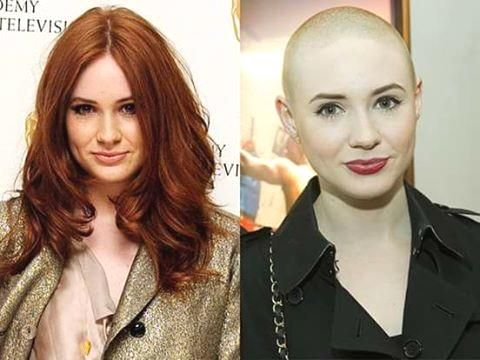 Been a fan of bald women since I first saw Persis Khambatta. Some of a younger generation will, no doubt, say the same of Karen Gillan. #baldisbeautiful
