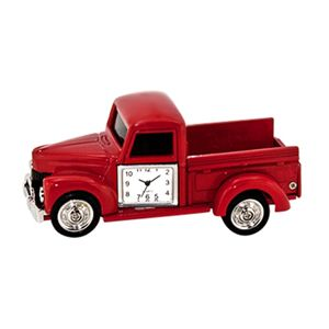 Metal Pick Up Truck Clock - Red. Unique office toys, supplies, and products at www.officeplayground.com use code P10 for 10% off
