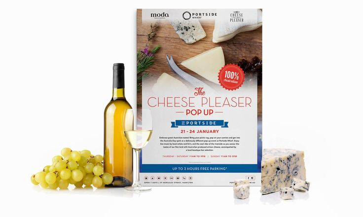 In the week leading up to Australia Day, they asked iCreate to deliver some truly mouth-watering collateral for a Cheese Pleaser Pop Up.