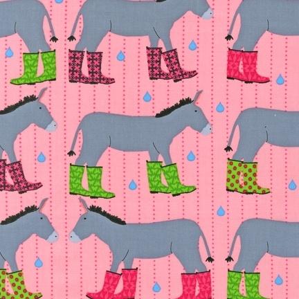 Robert Kaufman fabrics.Kaufman Jack, Galoshes Petals, Robert Kaufman, Kaufman Fabrics, Jenny Water, Jenny Donkeys, Laurie Wisbrun, Jack O'Connel, Donkeys Galoshes