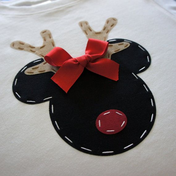Reindeer Minnie Christmas Shirt by AStitchUponAStar on Etsy, $24.95...I think I could probably make something similar for a lot cheaper though lol.