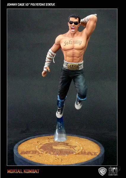 Estatua Mortal kombat. Johnny Cage, 25 cms Espectacular estatua de 25 cms perteneciente al popular videojuego de pelea Mortal Kombat, con el personaje Johnny Cage un gran maestro de las artes marciales.
