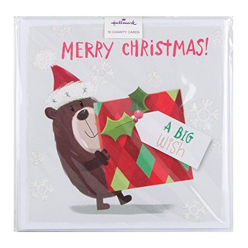 Hallmark Charity Christmas Card Pack Big Wish - 10 Cards, 1 Design No description (Barcode EAN = 5054655025302). http://www.comparestoreprices.co.uk/december-2016-3/hallmark-charity-christmas-card-pack-big-wish--10-cards-1-design.asp