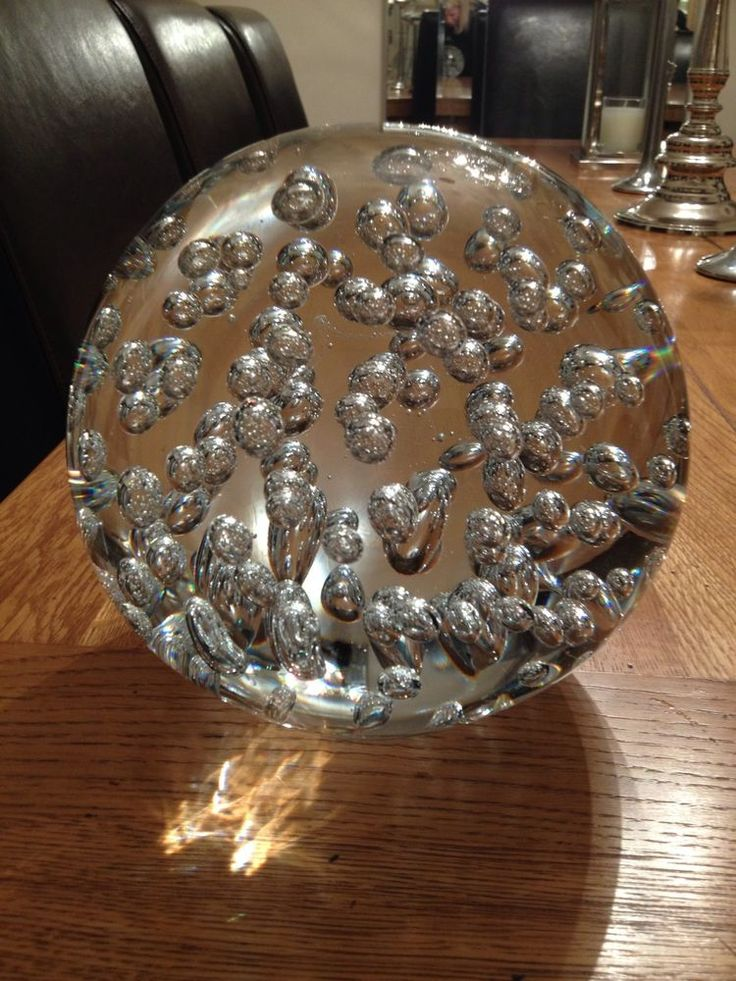 Bowling ball size decorative glass ornament sphere with
