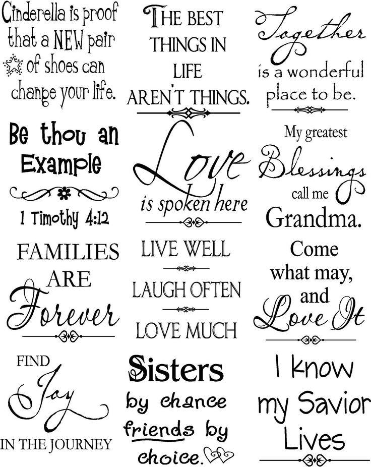 Beautiful vinyl lettering sayings
