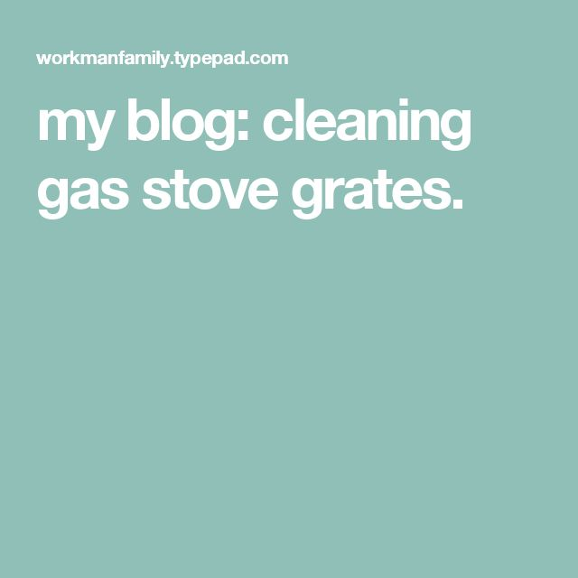 What products can be used to clean your gas stove burners?
