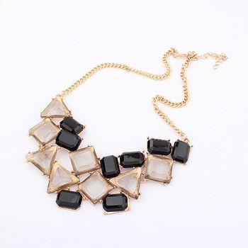 sweet irregular geometry necklace