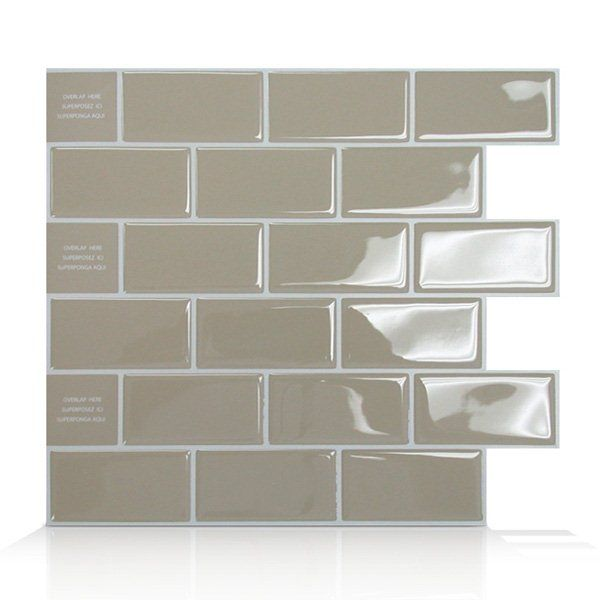 Shop Smart Tiles SM102 Subway Self Adhesive Wall Tile at Lowe\'s Canada.  Find our selection