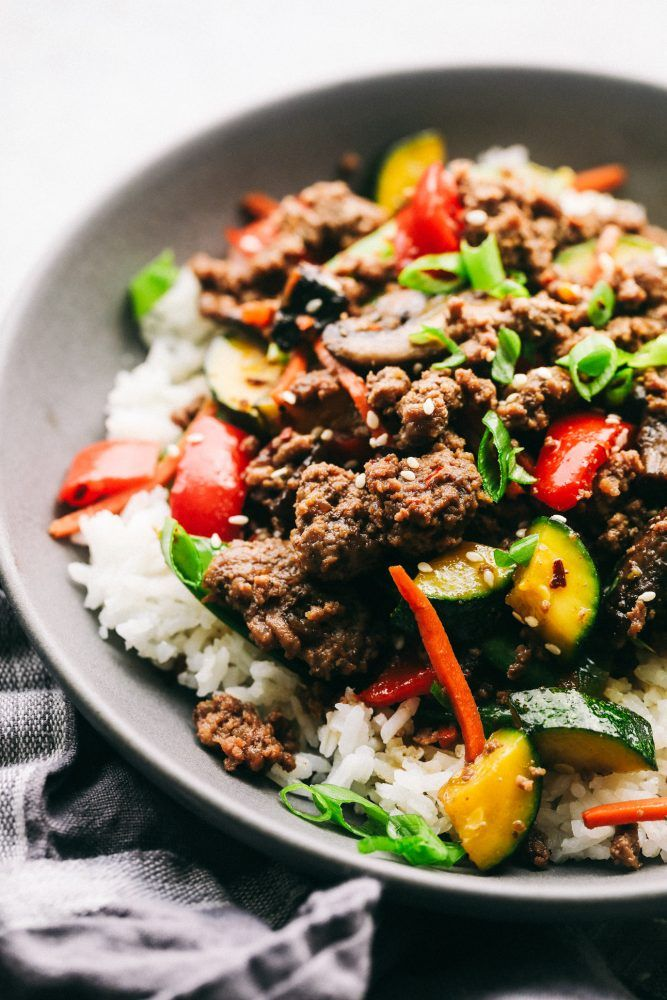 Korean Ground Beef Stir Fry The Recipe Critic Ground Beef Stir Fry Ground Beef Beef Stir Fry
