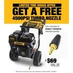 DEWALT 4200 PSI at 4.0 GPM Gas Pressure Washer Powered by Honda with Bonus Turbo Nozzle