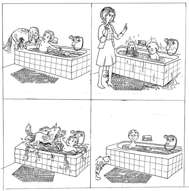 """Images séquentielles """"Un bain éclaboussant"""" (4 images)"""