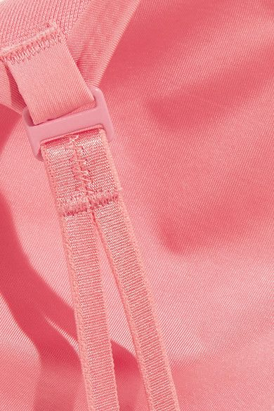 Calvin Klein Underwear - Naked Touch Tulle-trimmed Stretch-satin Underwired Bra - Baby pink