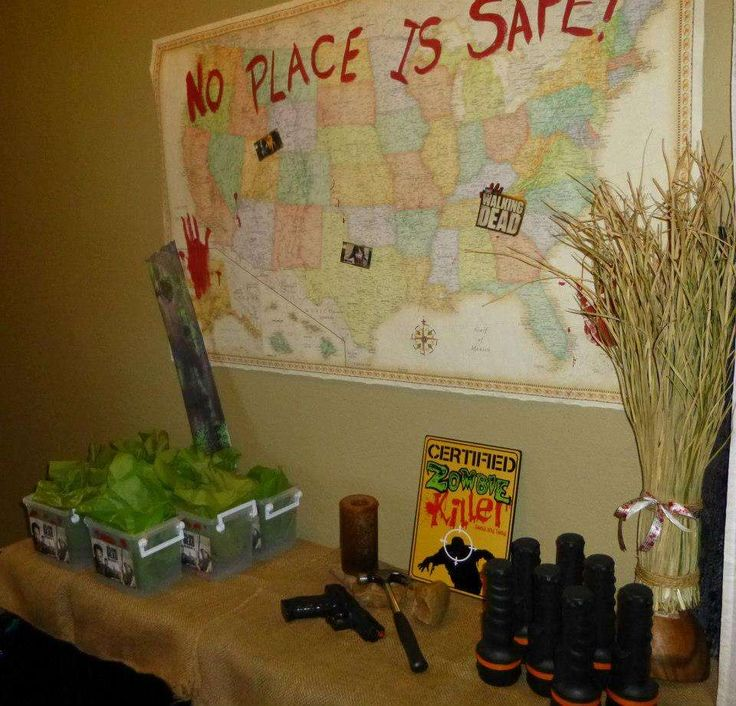 AMC The Walking Dead, Zombie Apocalypse Birthday Party Ideas  The o ...
