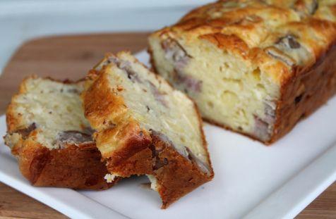 Cake andouille, camembert et oignons #Dodues #cake #apéro #andouille #camembert #oignon
