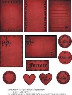 Gothic Freebie Friday Heres a freebie for our gothic fans.  This one is perfect for layouts, cards and minis with a gothic or a vampire theme.  Think Twilight, True Blood, etc.