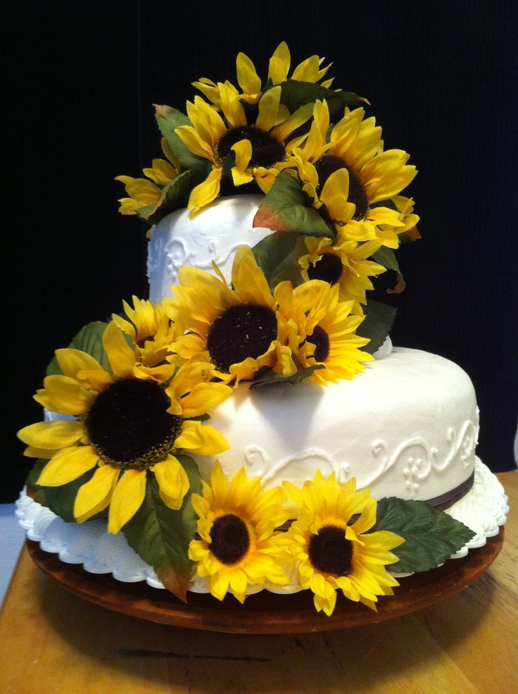 wedding cake ideas with sunflowers 17 best images about wedding on sunflower 22947
