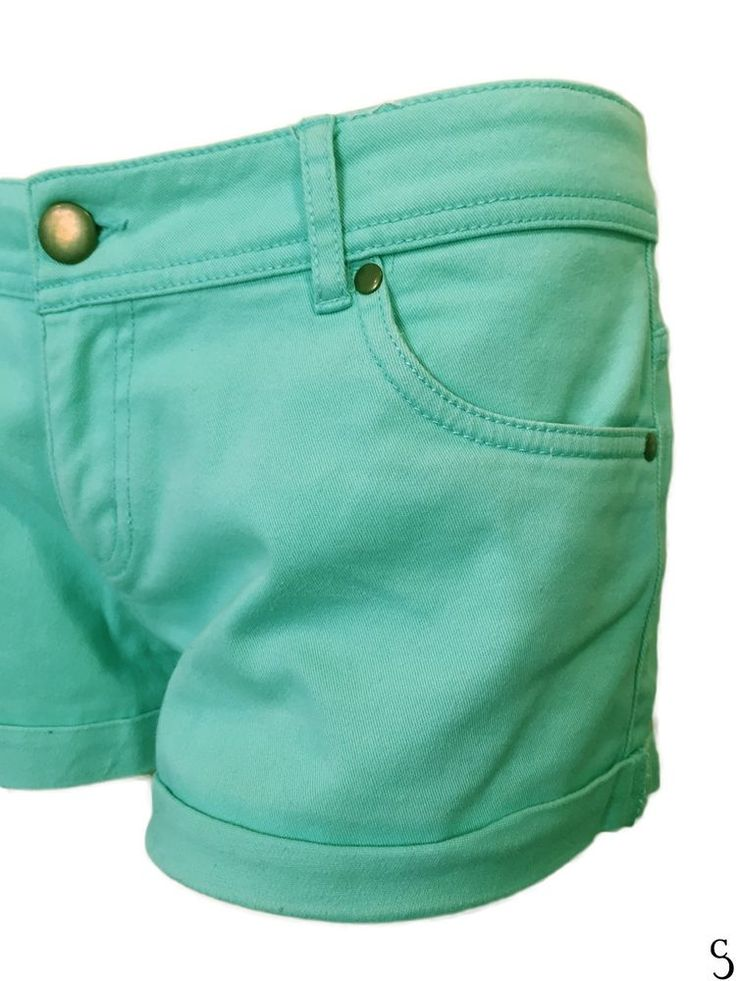 Turquoise Jean Shorts Hotpants by Tezenis -- Sizes: L #Tezenis #Hotpants