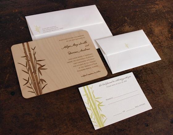 oslopress bamboo wedding invitations asian wedding invitations papyrus invites - Papyrus Wedding Invitations