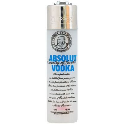 Clipper Lighter - Absolut Vodka - www.millscollectables.com