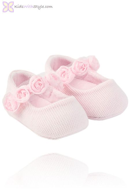 hese Mary Jane Prams are the perfect choice for your baby girl's first pair of shoes. Made with a super soft knit, they are comfortable for your baby to wear all day. Shop all your favorite baby accessories and fashion at kidswithstyle.com Free 2-3 Day Shipping for orders $75+