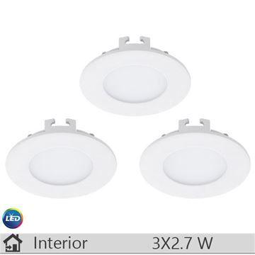 Set 3 spoturi LED iluminat decorativ interior Eglo, gama Fueva, model 94732