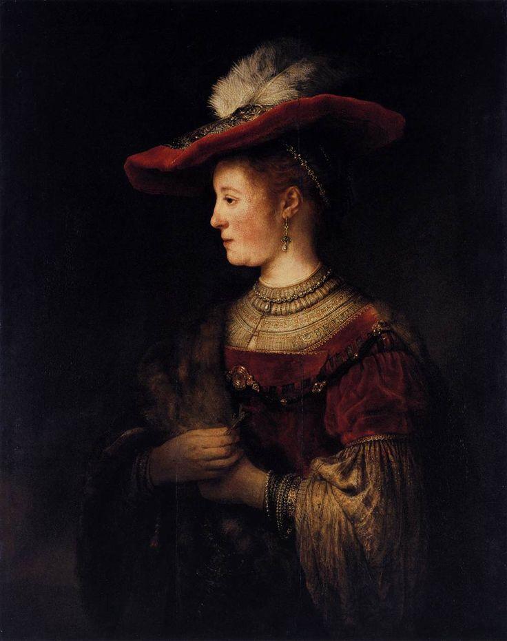 Портрет Саскии в пышном платье, 1642. Рембрант