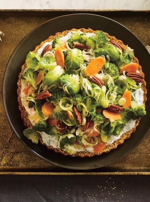 Tourte végé au quinoa et à la patate douce