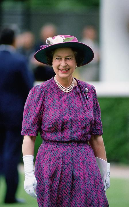 The Queen during a visit to Hong Kong, 1986.