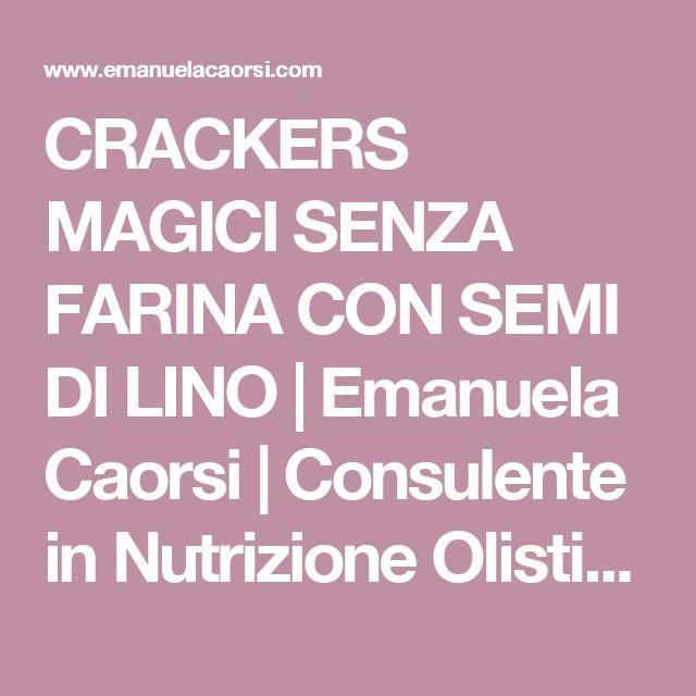 CRACKERS MAGICI SENZA FARINA CON SEMI DI LINO | Emanuela Caorsi | Consulente in Nutrizione Olistica & Raw Chef