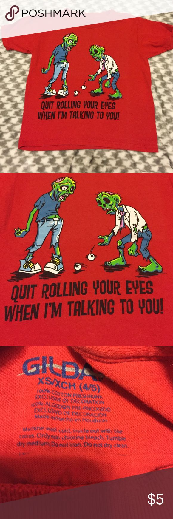 Boys Zombie Shirt Size xs boys zombie short sleeve shirt Gildan Shirts & Tops