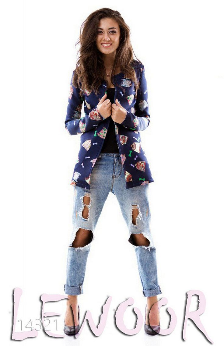 Пиджак - накидка с рисунком, неопрен - купить оптом и в розницу, интернет-магазин женской одежды lewoor.com