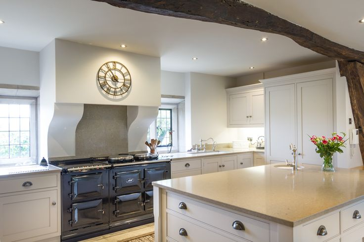 The island unit makes a stunning centrepiece to the entire kitchen