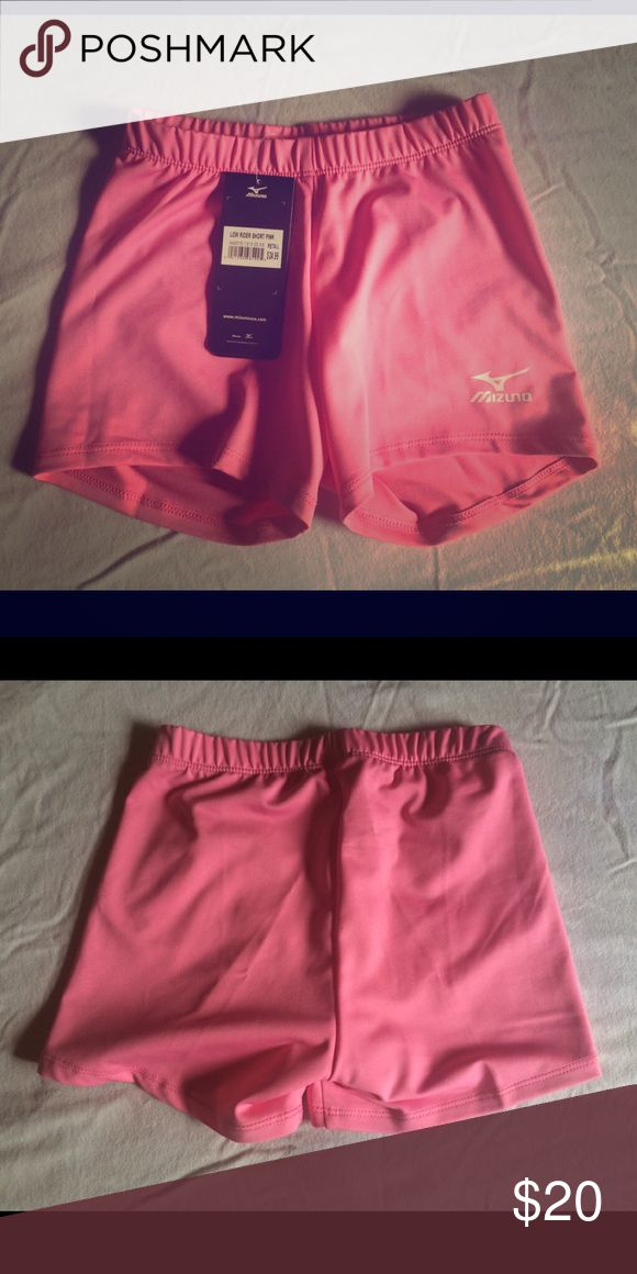 Selling this Mizuno low rider volleyball shorts size XS pink on Poshmark! My username is: alienerin. #shopmycloset #poshmark #fashion #shopping #style #forsale #Mizuno #Pants