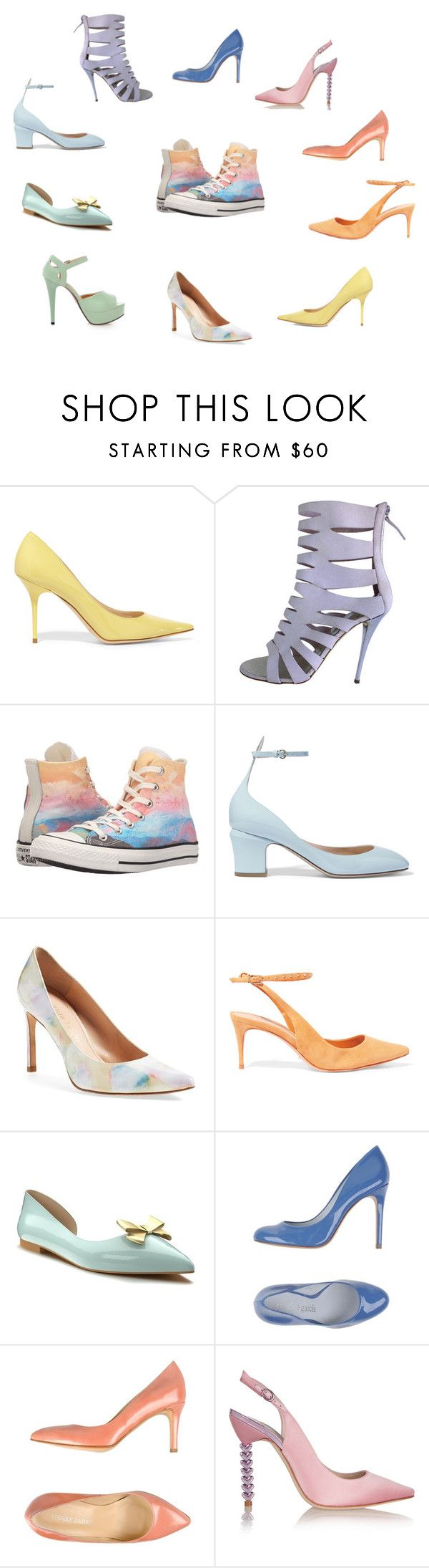 Cipők2016_6 by colorstyle-hu on Polyvore featuring Pastel Pairs, Stuart Weitzman, Converse, Pierre Darré, Shoes of Prey, Pedro Garcà a, Giuseppe Zanotti, Schutz, Valentino and Jimmy Choo