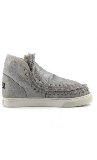 Mou Boots Mini Eskimo Sneaker Women Rock Metallic. Check them out on mou-sale.com #mou #mouboots