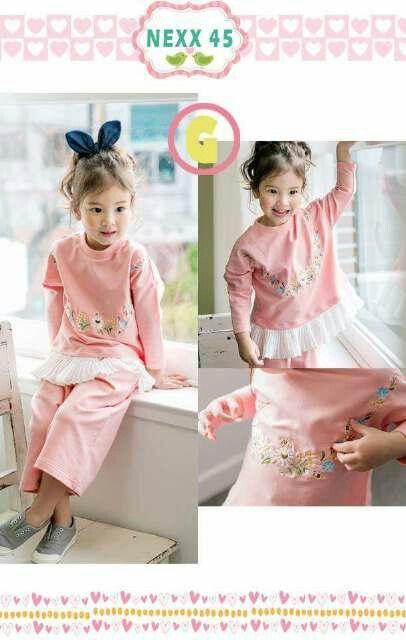GC188 Stelan Anak Cewek Flowers Peach Nexx45G Size 2th 3th 4th 5th 6th Rp 95.000 (ready)