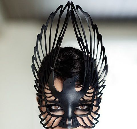 Beautiful: Halloween Costumes, Masquerades Parties, Black Swan, Ravens Masks, The Ravens, Leather Masks, Birds, Halloween Masks, Ravens Leather