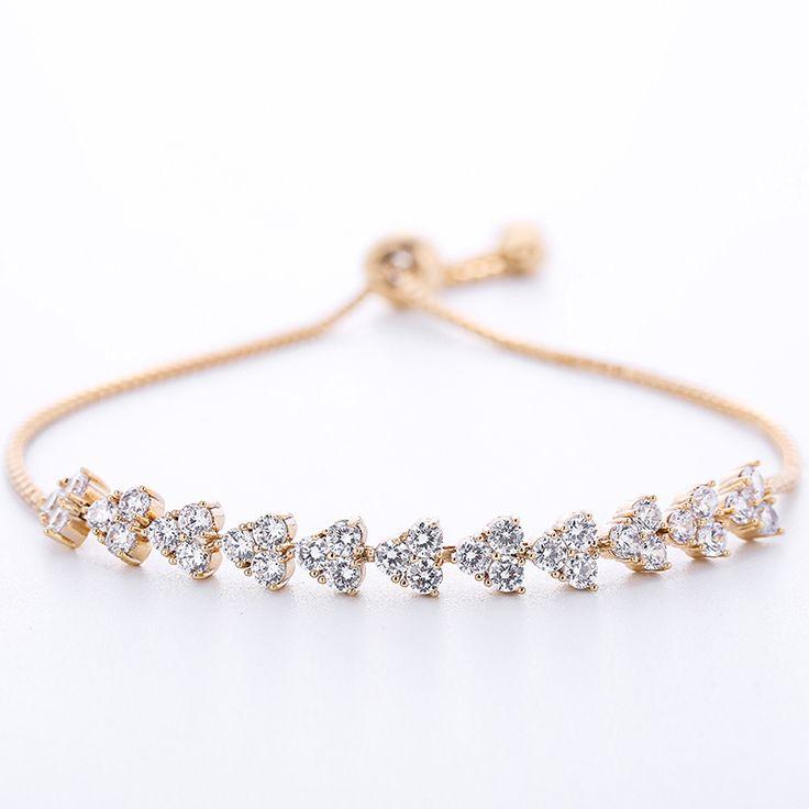 Luxury AAA CZ Bracelets Good plated Charm Bracelets & Bangles for Women Best Cocktail Dress Jewelry sl025