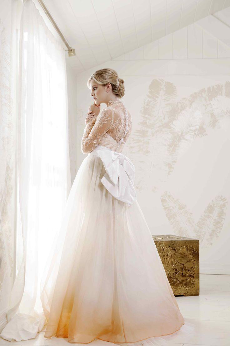 "V. SOUZ ""Grace Kelly"" dress with silk organza detachable skirt."