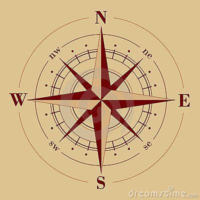 Antique Compass Rose Compass rose